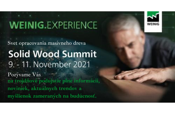 Pozvánka Web Solid Wood Summit Weinig